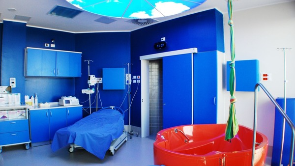 Delivery room in the Hospital Ospedale San Raffaele
