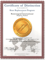 Certificate of Bumrungrad Knee Repalcement Program