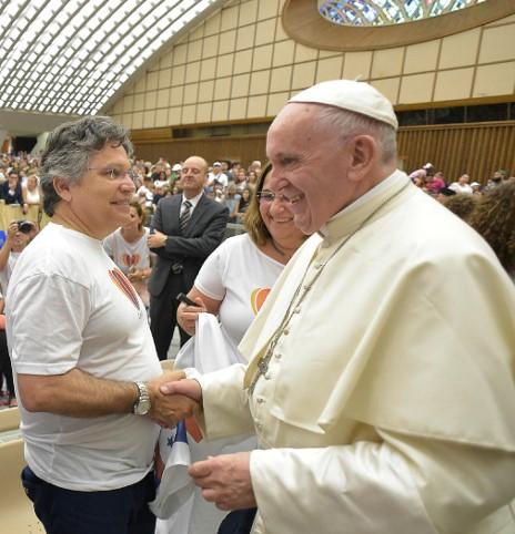 Рауль Фелипе Абелла и Папа Римский Франциск
