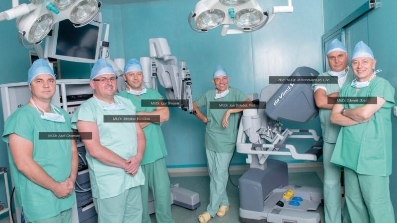 Команда специалистов по роботизированной хирургии в Здиславе