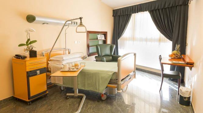 Одноместная палата в клинике Мадоннина