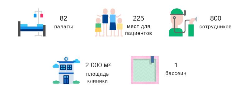 Клиника Ласницхеэ в цифрах