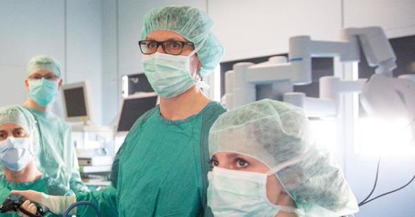 Операция в онкологическом отделении клиники Лейпцига