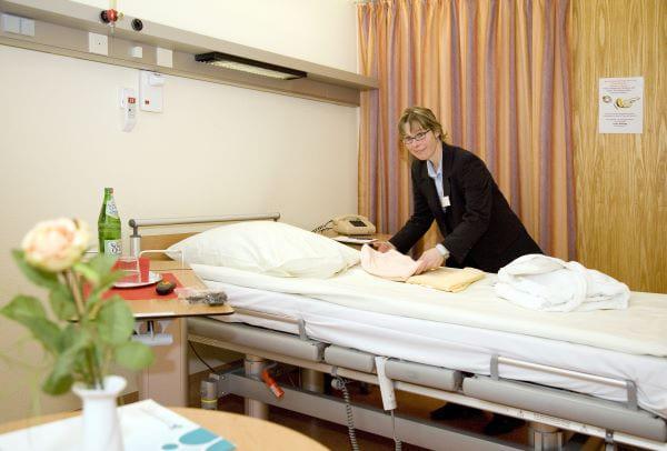A ward at The North Rhine-Westphalia Association hospitals in Germany